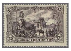 German Empire, 1900 wo watermark. 3 Mk. black violet, in perfect condition mint never hinged without hinge. Certificate Jäschke (1992) . Michel 1800.-. Katalog-no. 80 aa appraisal 250.- till 300.-  Dealer Rapp Auctions  Auction Minimum Bid: 250.00 SFr