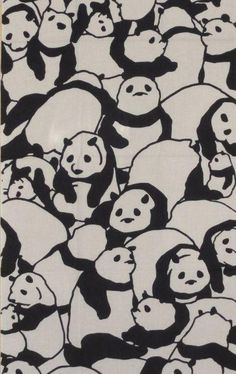 Tenugui Japanese Fabric 'Pile of Pandas' I think this pattern is quite fun and playful . I love the expressions on the panda faces and aim to make any animals I incorporate in my design quite expressive as a result of seeing this. Japanese Design, Japanese Art, Japanese Patterns, Textile Patterns, Textile Design, Floral Patterns, Pattern Art, Pattern Design, Illustration Art