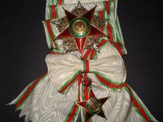 Order of Charity (Nişan-ı Şefkat) (Ottoman Empire) – First Class Set (diamonds, rubies, gold, enamels)