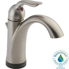 """$244, not as high at 9.28"""" but still have to measure Delta Lahara Single-Hole Single-Handle Mid-Arc Bathroom Faucet with Touch2O Technology in Venetian Bronze-538T-RB-DST at The Home Depot"""