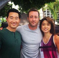 Hawaii Five-0 Season 5 Behind The Scenes  Alex O'Loughlin, Daniel Dae Kim and Grace Park #H50