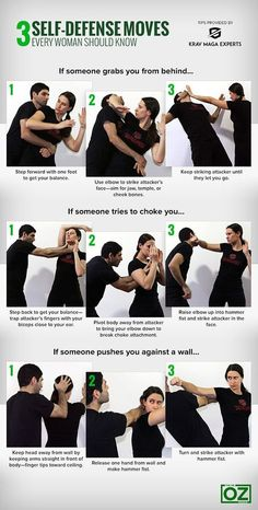 3 Self-Defense Moves Every Woman Should Know | With Krav Maga, you'll get a great workout and learn how to defend yourself in virtually any situation. You'll also have a blast while doing it! madakravmaga.com 50272 Van Dyke Ave, Shelby Twp. MI
