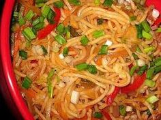 The Most Popular And Tasty #Vegetable #Hakkanoodles Indian Recipe http://www.easyindianfoodrecipes.info/recipe/vegetable-hakka-noodles-recipe.html