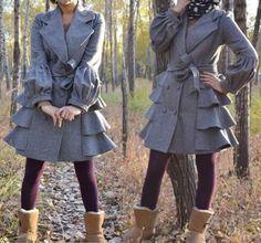 kekebo style wool coat dress woollen coat cashmere coat by kekebo, $99.99