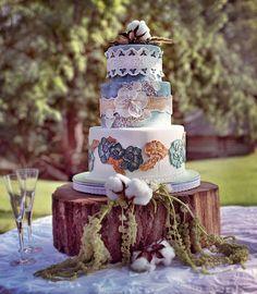 southern+sheek | Southern Chic Wedding Cake | Flickr - Photo Sharing!