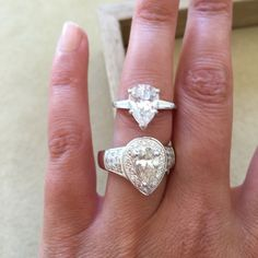 Pear Cut Diamond Engagement Rings from The RealReal