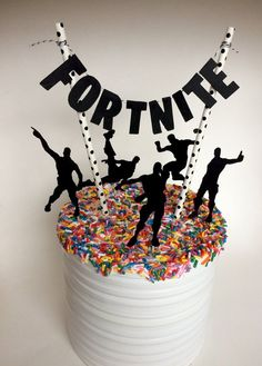 Gaming Party Cake Topper Fortnite Inspired Cake Topper