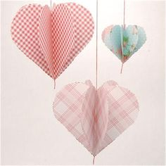 Dangling Hearts Decor-made these for YW's New Beginnings.  Simple to put together!