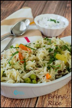 Brinji Rice, an aroma rich with healthy veggies. The flavour of bayleaf along with other masala ingredients gives this rice a rich flavour. Side Dish Recipes, Vegetable Recipes, Vegetarian Recipes, Cooking Recipes, Cookbook Recipes, Easy Cooking, Lunch Recipes, Veg Thali, White Rice Recipes