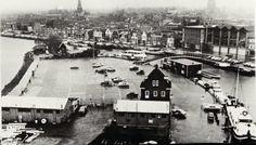 Alkmaar, jaren 50/60, afgesneden kanaalvak