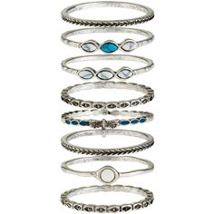 Accessorize Ethnic Dragonfly Stacking Ring Set ($20) ❤ liked on Polyvore featuring jewelry, rings, dragonfly jewelry, dragonfly ring, engraved rings, accessorize jewelry and stone jewelry