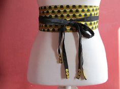 Ceinture obi à l'africain par Laurelp - thread&needles Coin Couture, Baby Couture, Couture Sewing, Cinto Obi, Diy Fashion, Womens Fashion, Fashion Design, Obi Belt, Textiles