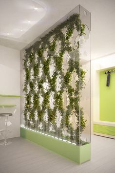 Really customize that green wall- Green Partition by Ann Baldina Tuvie Design