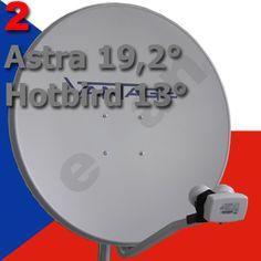 Fernsehen aus Tschechien Astra 19 und Hotbird 13