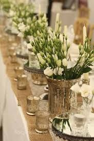 Image result for christmas table gold, lisianthus