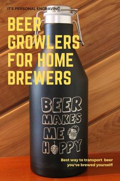 We have a great selection of custom-designed growlers! All can be personalized. All are laser engraved so the design will not fade or peel like vinyl can. Swing top locking lid prevents leaking for worry-free transportation. Beer-to-go in style!  #personalized #gifts #beer #homebrew Personalized Gifts For Men, Personalized Tumblers, Customized Gifts, Custom Gifts, Laser Engraved Gifts, Beer Growler, Swing Top, How To Make Beer, Gifts For Dad