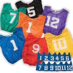 timeless design 8ad04 2a20b Sport Supply Group Lightweight Numbered Adult Scrimmage Vest- Set of 12  Scarlet