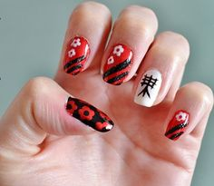 Nails with Japanese letters