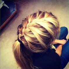 School Hairstyle for Straight Long Hair