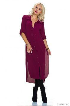 095d9dacf8fe Ασύμμετρο σιφόν μίντι φόρεμα με σκισίματα - Μπορντώ