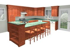 multi-level kitchen island idea