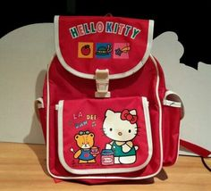 Excited to share the latest addition to my #etsy shop: Vintage Sanrio Hello Kitty 1976, 1991 LA DEE DAH Backpack Knapsack Japan #bagsandpurses #backpack #vintagesanrio #sanriopencilcase #vintagehellokitty #tinpencilcase #1989hellokitty http://etsy.me/2z6yB6y
