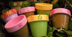 many flower pots decorating ideas