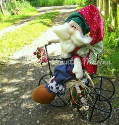 Santa en triciclo