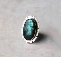 Labradorite & Sterling Silver Gemstone Statement by LaFreeBoheme, $238.00