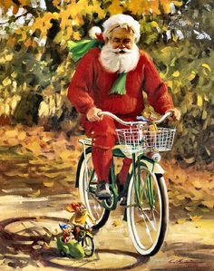 Santa's Time Off by Tom Browning | SANTA | Pinterest