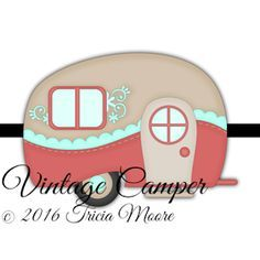 Old Campers, Retro Campers, Happy Campers, Vintage Campers, Camping Theme, Camping Crafts, Camping Ideas, Camper Clipart, Camper Drawing