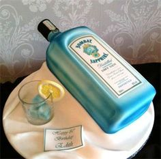 bombay sapphire cake-my birthday is in May, just puttin' that out there....