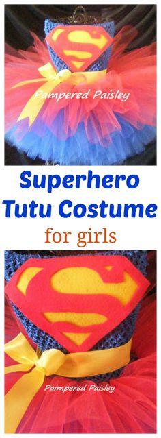 Superhero costume femal, tutu dress toddler #affiliate