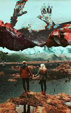 The Glitch Of Being Together. Surreal Mixed Media Collage Art By Ayham Jabr. Instagram-Facebook
