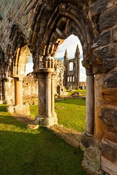 Ruins of St Andrews Cathedral, St Andrews, Scotland Abandoned Churches, Old Churches, Abandoned Places, Oh The Places You'll Go, Places To Visit, Wonderful Places, Beautiful Places, Monuments, St Andrews Scotland