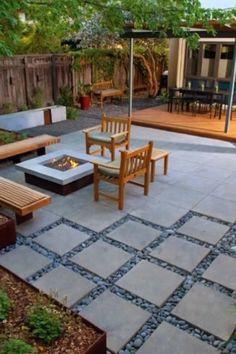 Backyard Patio Designs, Small Backyard Landscaping, Patio Ideas, Backyard Ideas, Small Patio, Garden Ideas, Landscaping Ideas, Garden Inspiration, Modern Backyard