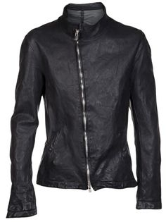 A DICIANNOVEVENTITRE Heavy Distressed Leather Jacket