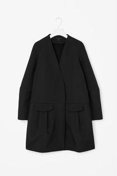 COS | Front pocket a-line coat