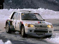 Ari Vatanen - Terry Harryman  53 Rallye de Monte-Carlo 1985. Peugeot 205 Turbo 16. Clasificado 1.  Penaliz 8 minutos en el C.H. de entrada al Parque cerrado de GAP, por un error de su copiloto, Terry Harriman. Remont esa diferencia y le gan por 5 minutos y 17 segundos a Walter Rohrl (Audi Quattro Sport)
