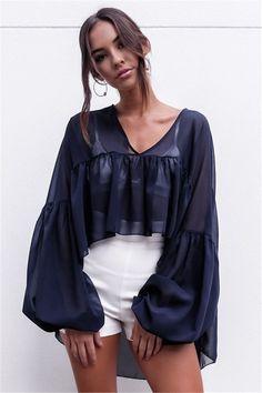 >> Click to Buy << Fashion Women Chiffon Blouse Beach Beachwear Blouse Ladies Ruffle Sleeve Shirt Cover Up Tops #Affiliate