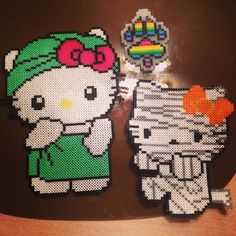 Hello Kitty perler beads by lyssaboobabes