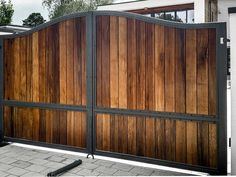 Wooden Driveway Gates with solid metal frame. North Valley Forge don't just make wooden gates! We create stunning gates with timber in metal frames.