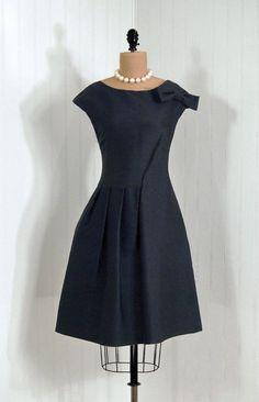 Cocktail Dress, Gregoriana: 1960's, Italian, sculptural dupioni silk, asymmetric shoulder-bow Mod A-line design.