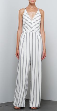 STYLE #F61B1162 - Sleeveless - Deep v neck - Back strap detail - Adjustable straps - Wide leg pant - 98% Polyester, 2% Spandex Linen - Made in China