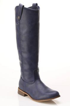 Classic Riding Boot In Blue