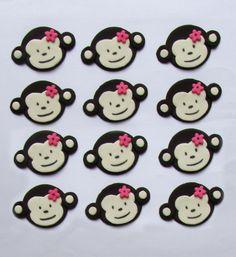 Fondant Cupcake Toppers - Mod Monkey.