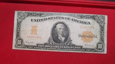 1907 $10.00 GOLD CERTIFICATE RARE OLD GOLD COIN PAPER MONEY CURRENCY NO RESERVE