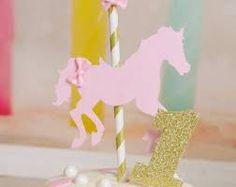 Resultado de imagen para carousel horse cake topper