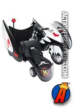 Batman Batcycle die-cast vehicle from Hot Wheels.