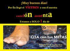 Inscripciones: http://goo.gl/rbm7B4 ¡Último día! #Citacontusmetas #Glasswalking #Tecnocampus